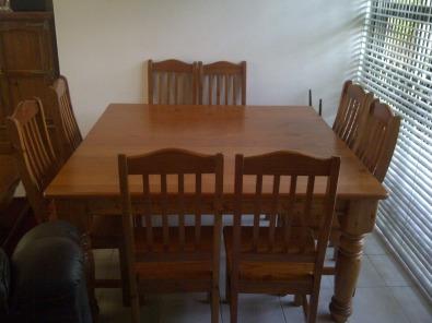 Oregon Pine Diningroom Set For