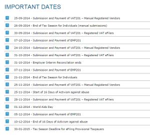 SARS-Dates