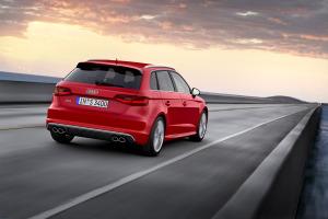 Audi-S3-Sportback-rear-view-sunset