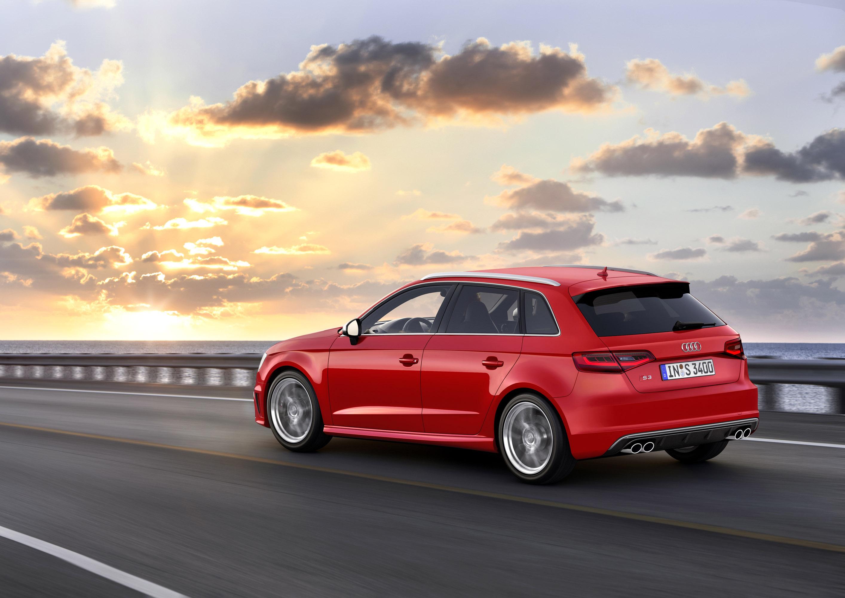 Audi-S3-Sportback-side-view-sunset