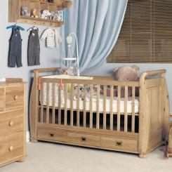 Oak-cot-beds