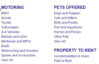 Junk Mail Categories