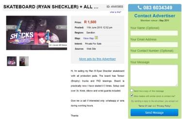 Skateboard-Ryan Sheckler