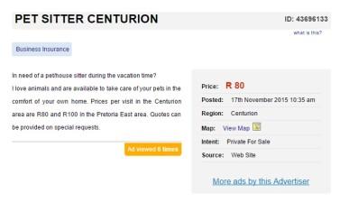 pet-sitter-in-centurion-gauteng