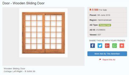sliding doors for sale on junk mail