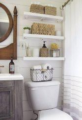 install bathoom shelves