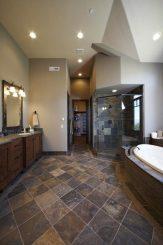 tiles on the bathroom floor