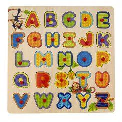 simple wood alphabet puzzle