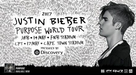 the 2017 justin bieber purpose tour in sa