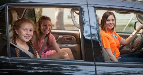 carpooling to school