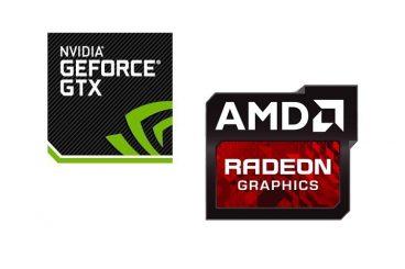 nvidia and amd logos