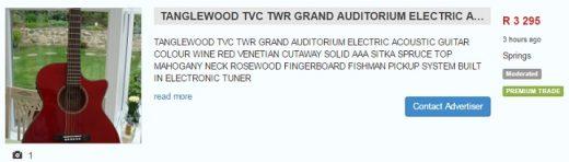 tanglewood tvc