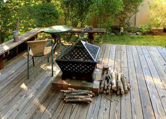 prepared fireplace