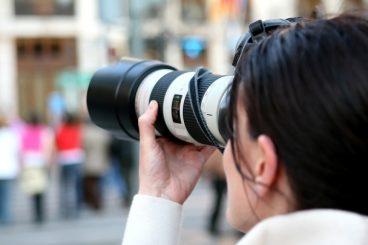 lady using a digital camera
