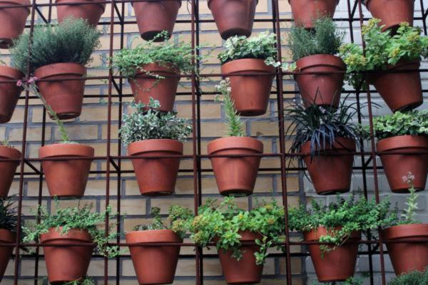 Create A Vertical Garden With Garden Pots | Junk Mail
