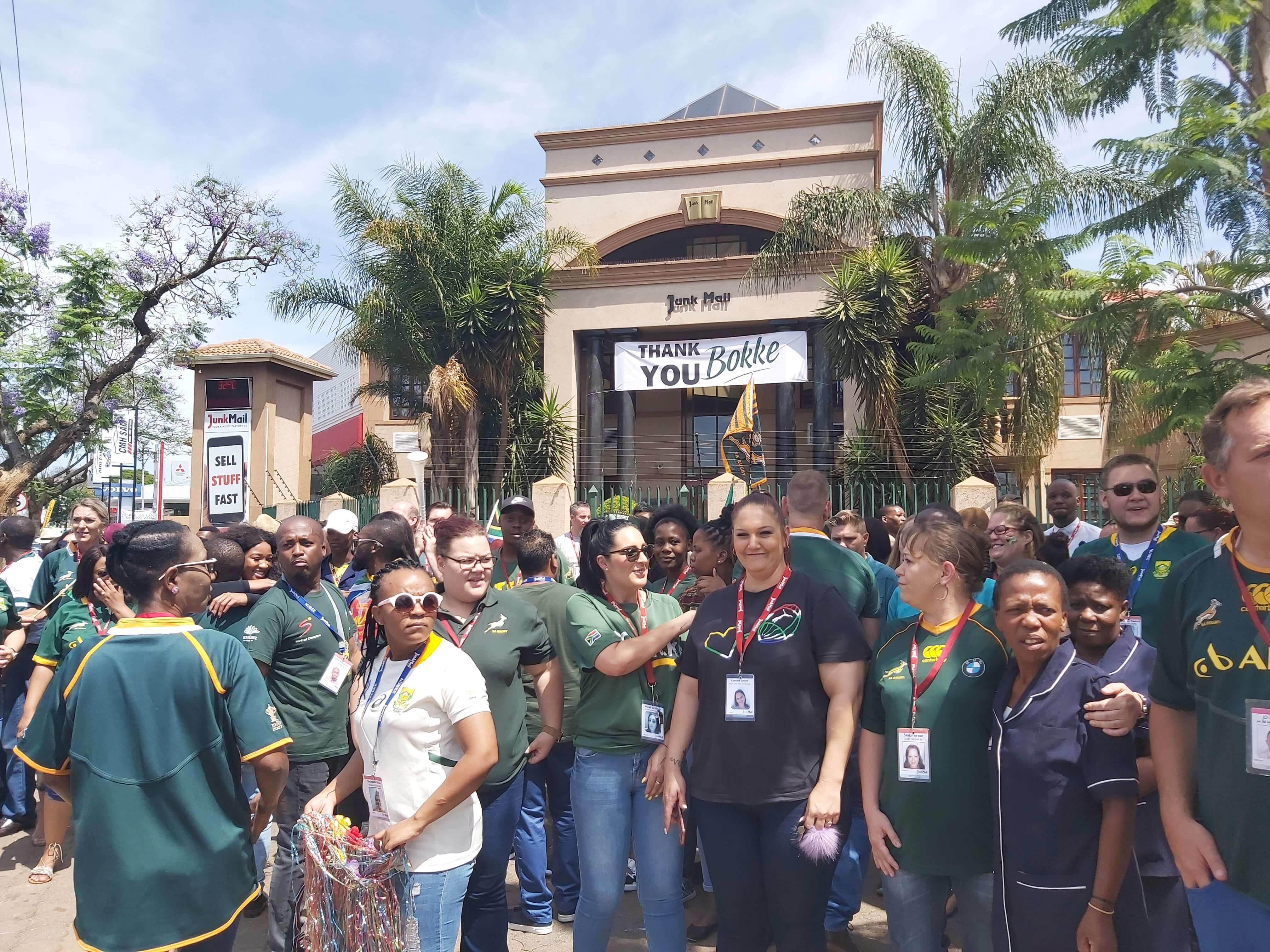 Junk Mail team shows Springbok spirit